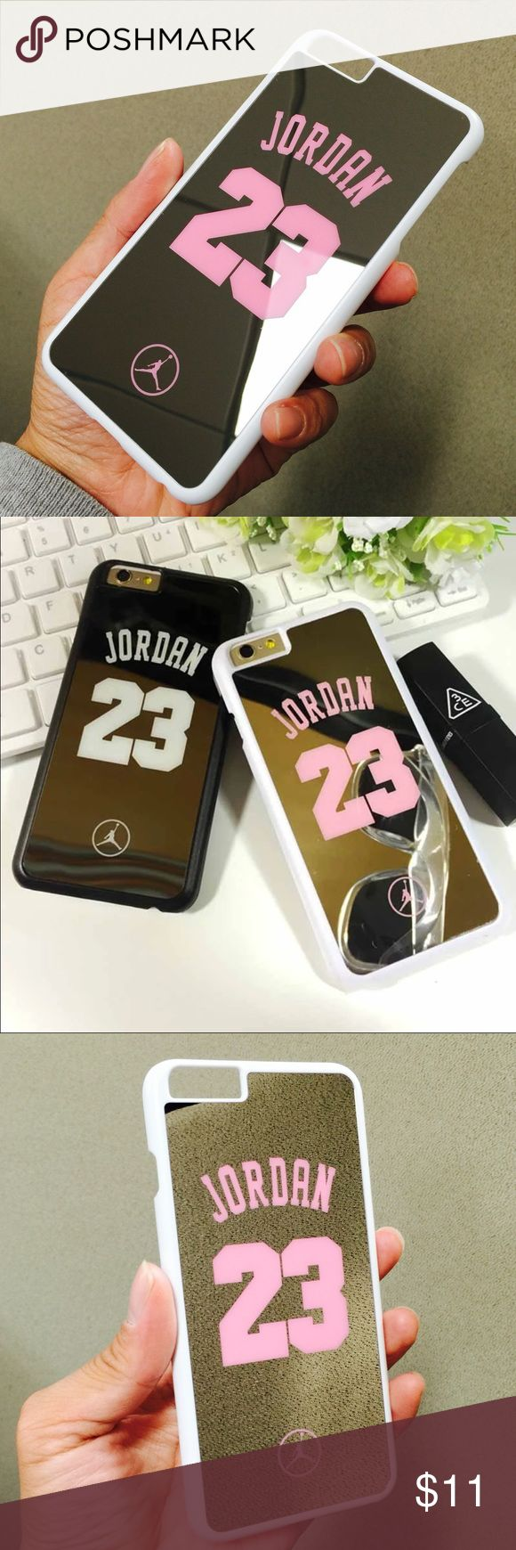 "i6+/6s+ Cute 23 Jump-man Jordan mirror case i6+/6s+ Cute 23 Jump-man Jordan mirror case New arrivals!!!!!! Stylish protective case!!!!!!!!  Brand new fashion high quality cute 23 Jump-man Air Jordan hard mirror case compatible for iPhone 6 Plus and 6s Plus.   Fashion, luxury, convenience, Shockproof, anti-knock, drip-proof, scratch-proof  Color: White/Pink  Size: iPhone 6 Plus / 6s Plus, 5.5""  Fast shipping  Please make sure you are purchasing the size case. Accessories"