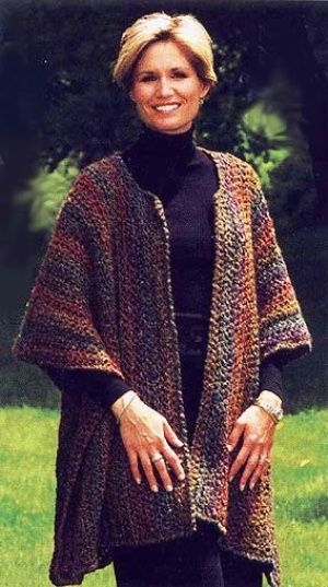 Urban Wrap ~ Free crochet pattern from Lion Brand ~ Be sure to read helpful comment. ~ Knitted version is Lion Brand #1113.