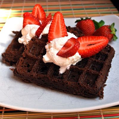 Gluten free brownie batter waffles...genius!