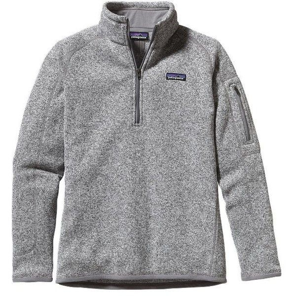 Patagonia Women's Better Sweater® Quarter Zip Fleece   Sumac Red ($99) ❤ liked on Polyvore