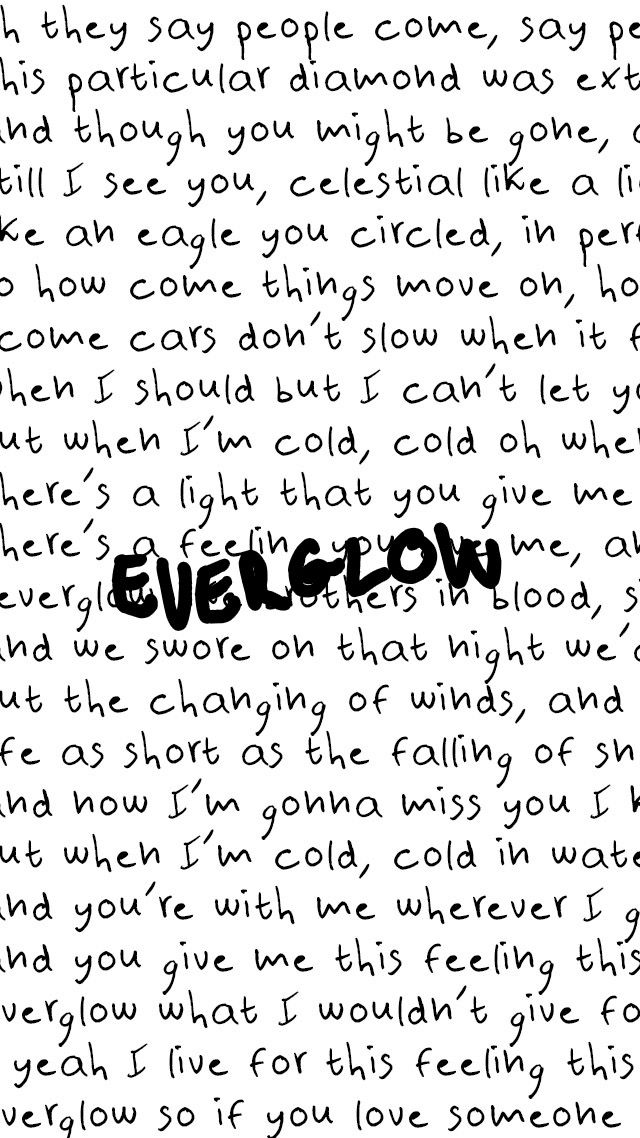Everglow-Coldplay love love love the piano in this song ;)