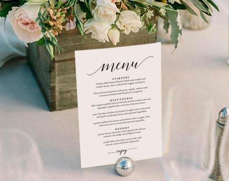 25 best ideas about wedding menu template on pinterest wedding
