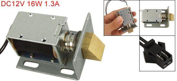 Cc 12v 1.3a 16w struttura aperta solenoide attuatore serratura in da su Aliexpress.com