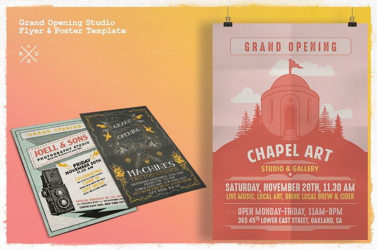 Grand Opening Studio Flyer \ Poster by Rooms Design Shop on - grand opening flyer