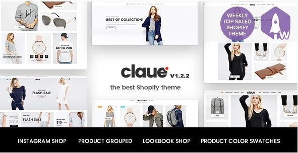 Claue - Clean, Minimal Shopify Theme for online fashion store, personal blog…. It comes with a lot of great features that would take you months to develop. It is fully responsive, it looks stunning on all types of screens and devices. Including easy to set up for MailChimp, Contact Form, Instagram Feed, Lookbook, Product Colour Swatch, Product Colours Swatch Gallery Images, Product Video Thumbnail, Instagram Shop, Product Bundle.  #ajax lazy load #ajax product filter #Bought Together #color…
