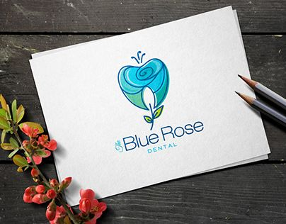 """Check out new work on my @Behance portfolio: """"The blue rose dental logo for sale"""" http://be.net/gallery/61543085/The-blue-rose-dental-logo-for-sale"""