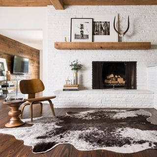 Rawhide Ivory Rug (6'2 x 8') | Overstock.com Shopping - The Best Deals on 5x8 - 6x9 Rugs