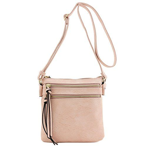New Trending Make Up Bags: Functional Multi Zip Pocket Crossbody Bag Dusty Pink. Functional Multi Zip Pocket Crossbody Bag Dusty Pink  Special Offer: $15.99  377 Reviews This small size crossbody bag makes easy to organize your everyday items.8″ (W) x 8″ (H) x 1″ (D)Zipper closureAdjustable shoulder strap with 25″ dropFaux leather ...