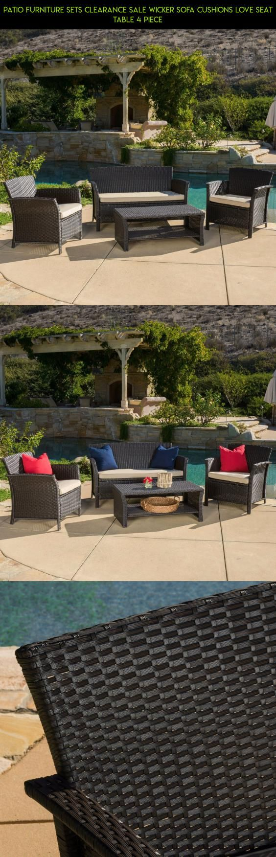 Patio Furniture Sets Clearance Sale Wicker Sofa Cushions Love Seat Table 4  Piece  tech. 25  best ideas about Patio Furniture Clearance Sale on Pinterest