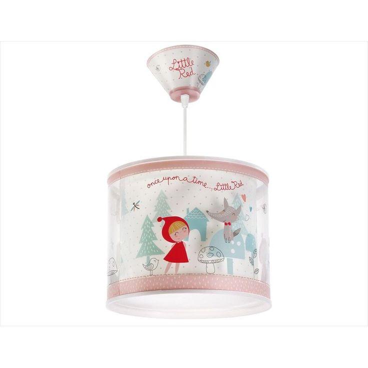 Παιδικό φωτιστικό οροφής κοκκινοσκουφίτσα με κίτ ανάρτησης & διακοσμημένη ροζέτα με ντουί Ε27 ΚΩΔ : 61902