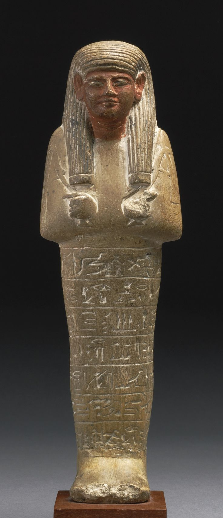 An Egyptian Polychrome Limestone Ushabti of the Squire Paser, 18th Dynasty circa 1550-1292 B.C. | lot | Sotheby's: