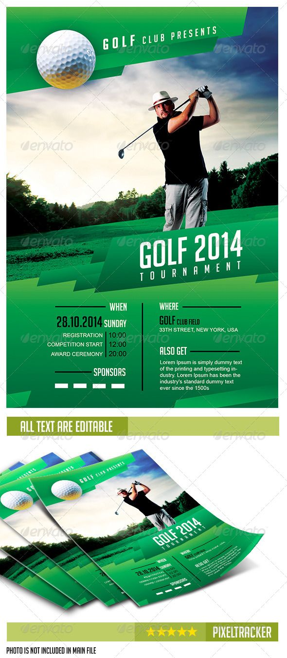 Golf Flyer Psd Antaexpocoaching
