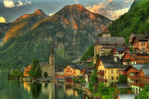 Ireland Pics Prettiest Villages | Lake Village, Hallstatt ...