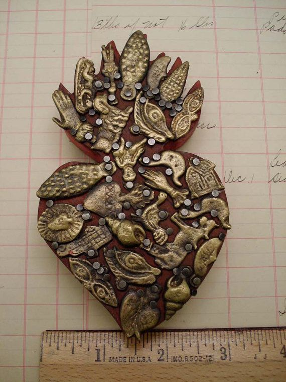 Mexican Milagro Heart Milagros Miracles por studiosblackbird