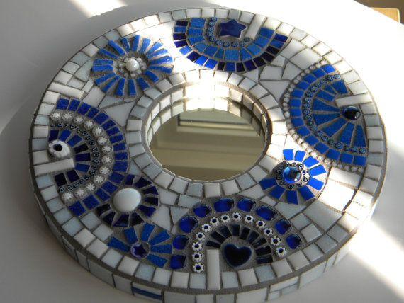 Stunning Aegean Mosaic Mirror by TheMosartStudio on Etsy, $130.00