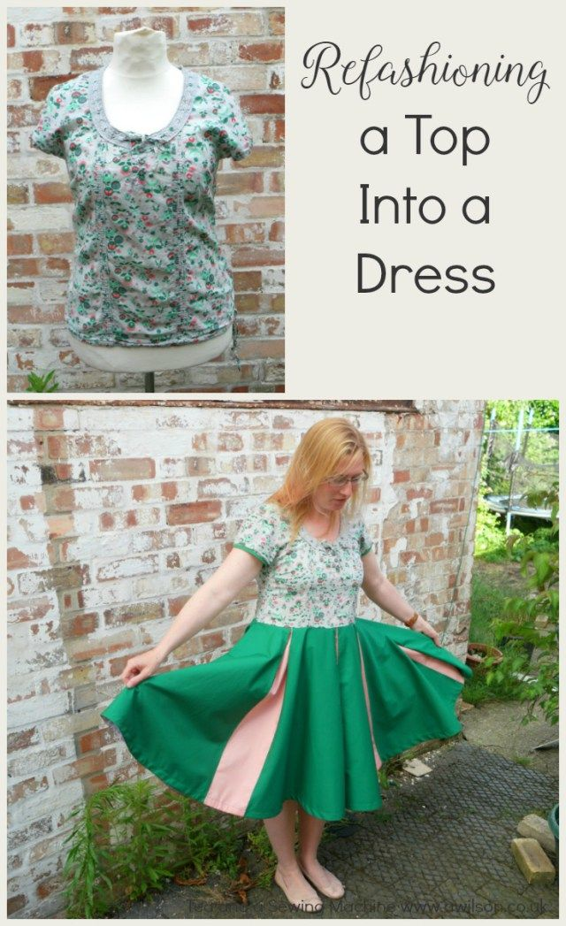 how to refashion a top into a dress