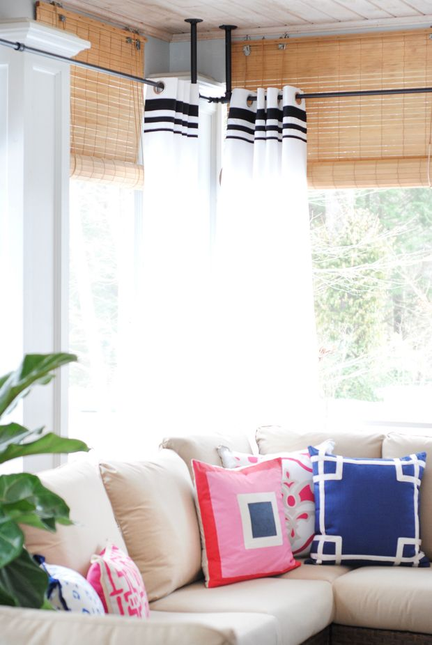 Screened Porch Makeover Sources Fireplaces Hanging