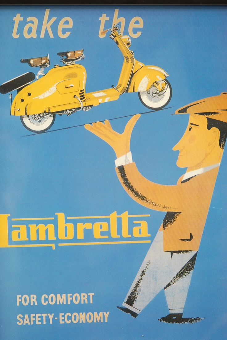 Vintage Italian Posters ~ Vintage Lambretta LD Advertisement