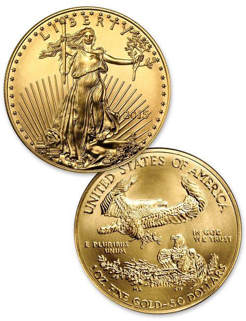 2015 - 1 Troy Oz Gold American Eagle $50 Coin SKU33804