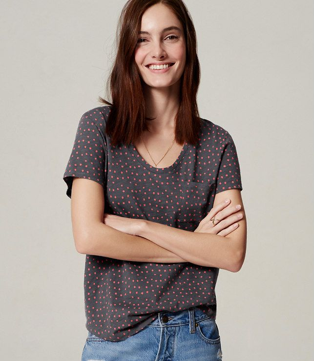 Primary Image of Dotted Vintage Soft Tee