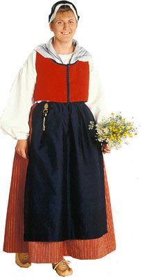 Pihtiputaan naisen puku. Kuva © Suomen käsityön museo