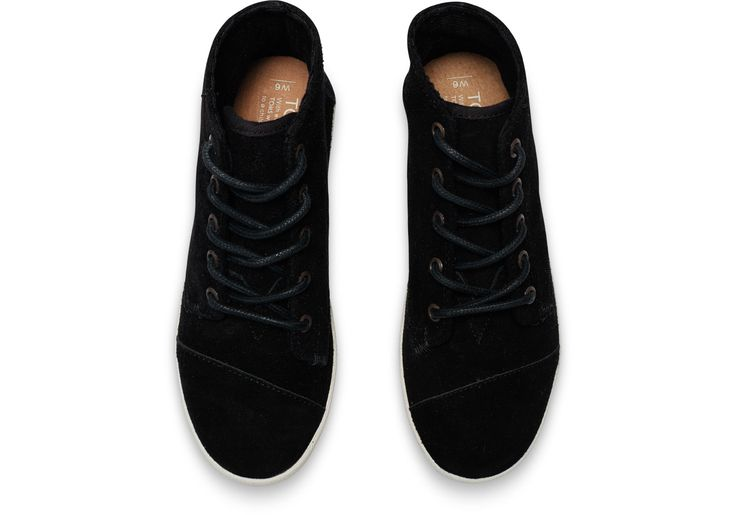 Black Suede Women's Paseo Highs | TOMS