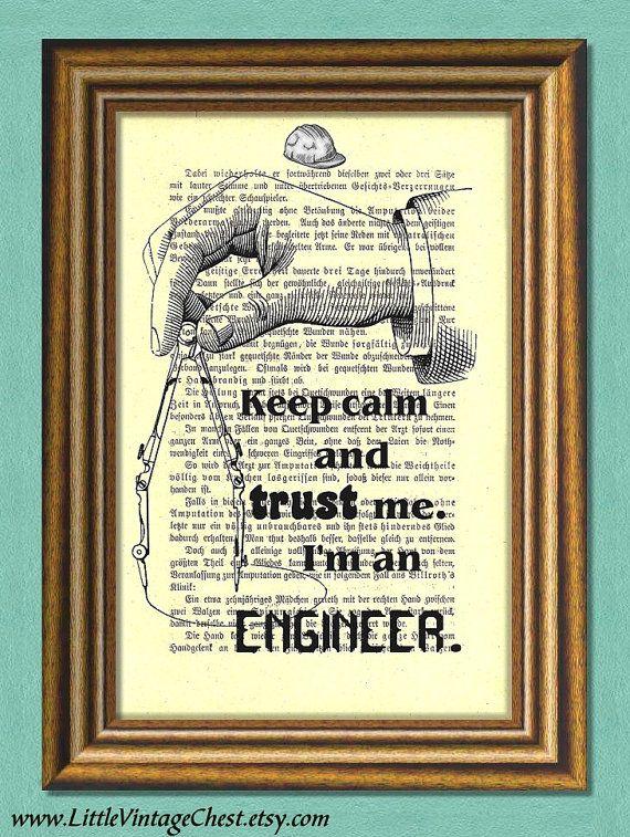 I'M AN ENGINEER  Dictionary Art Print  by littlevintagechest