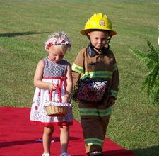 uhm.....It's a fireman themed wedding....My daughter is having one and I wish she would consider this......She said NO!