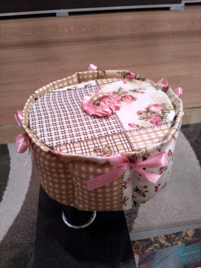 Fabric basket 2- I love this technik