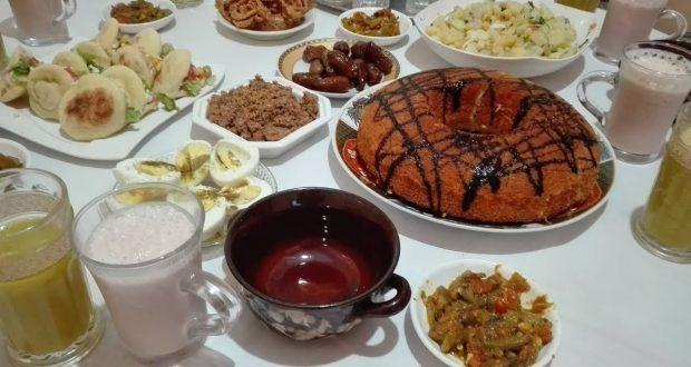 مائدة الافطار مائدة رمضان في وقت وجيز بوصفات سهلة ومتنوعة من المطبخ المغربي مع فاطمة Oumhidaya Food Breakfast Pudding