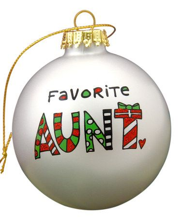 Love this 'Favorite Aunt' Doodle Ornament by Our Name is Mud on #zulily! #zulilyfinds