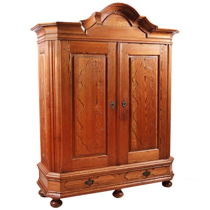 Antique armoire with drawers