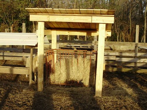 Wooden Pallet Horse Feeders Hay From Pallets Covered