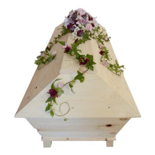 531a, kistdekorationer, begravningsblommor, lavendla begravningsbyra