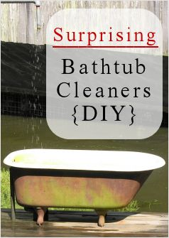 how to clean bathtub naturally