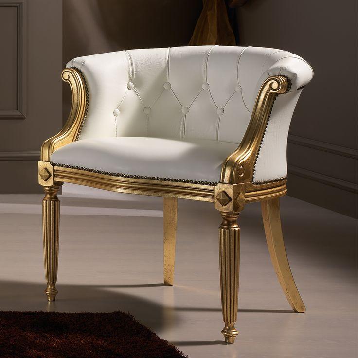 Italian White Leather Louis XV Style Armchair SKU: JCS08 £2,333.52 Italian White…