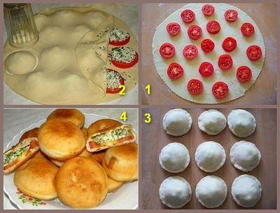 Хрустящие пирожки из заварного теста