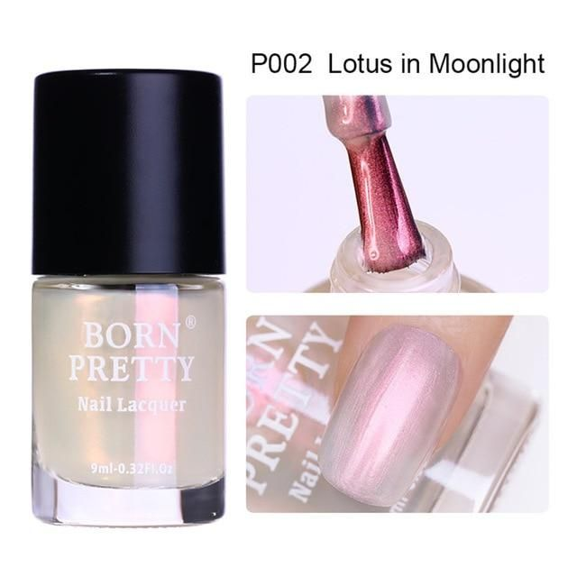 BORN PRETTY 9ml Transparent Shell Glitter Nail Polish Matte Nail Lacquer Varnish…
