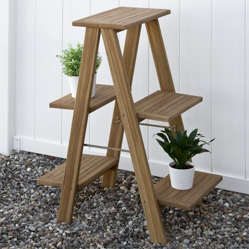 10 best images about plant stand on pinterest wood store plant stands and teak - Ladder plant stand plans free ...