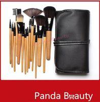 Venta al por mayor Profesional 15 PC libera el envío !! Cepillo del maquillaje y maquillaje Tocador Kit Lana Marca Maquillaje juego de brochas
