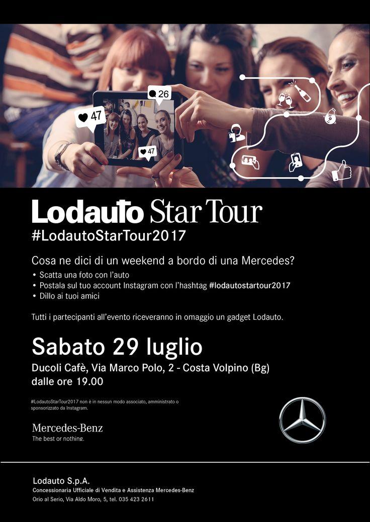 Sei pronto per l'ultima tappa del #LodautoStarTour2017? Ti aspettiamo Sabato 29 Luglio dalle 19.00 al DUCOLI CAFFÈ di Costa Volpino (BG). Non mancare!