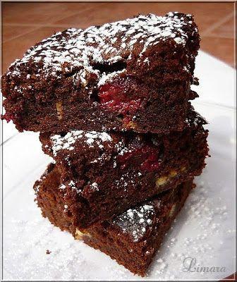 Limara péksége: Málnás-fehércsokis brownie