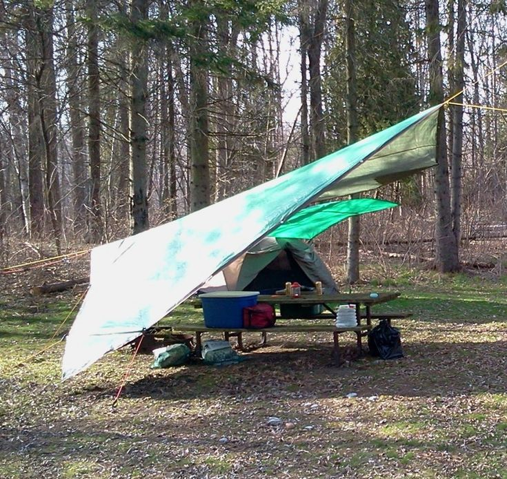 Create a rain or sunproof spot using tarps. Did a lot of research, this is the best site I found for how to set it up effectively in all conditions.