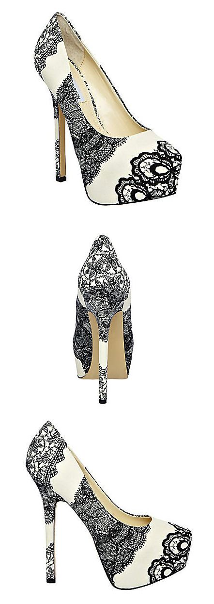 Steve Madden DEJAVU Black White.. The heel is a little too high but I love the print
