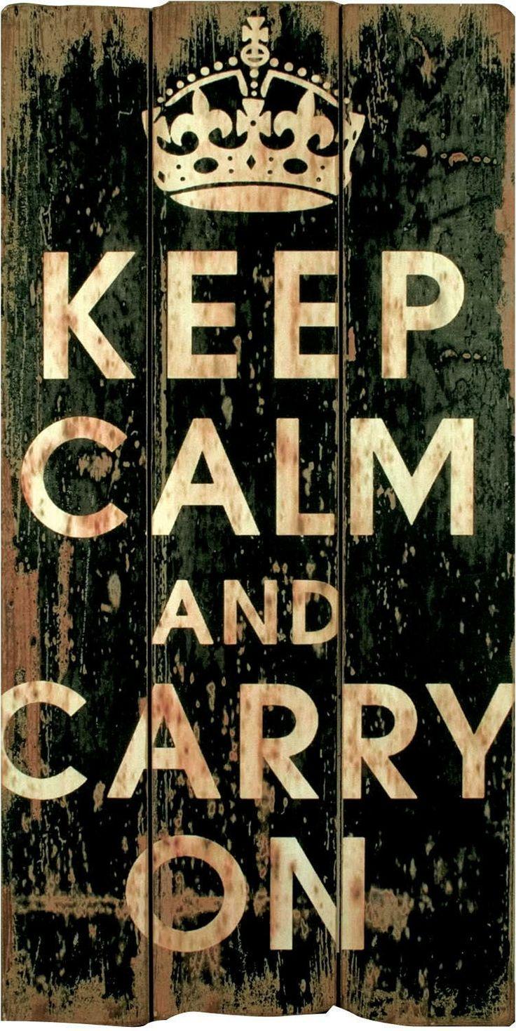 "Keep Calm Wall Plaque. Height: 33"" - 84cm Width: 17"" - 43cm"