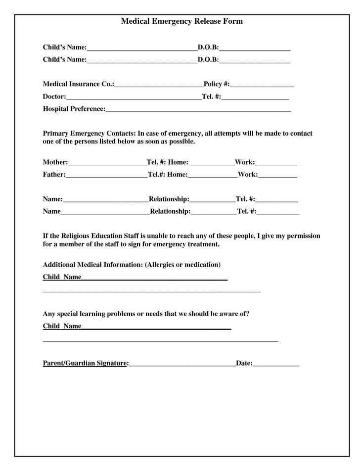 Medical Release Of Information Form Template Medical Release Form