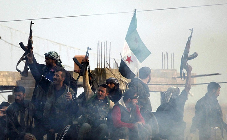 Twitter / leeh786: Free Syrian Army fighters shout ...