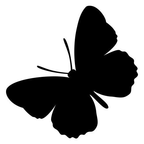 Pochoir papillon gratuit à imprimer et à découper soi-même disponible en…