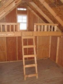 10x12 wood playhouse loft kit this kit will fit any style little cottage co playhouse