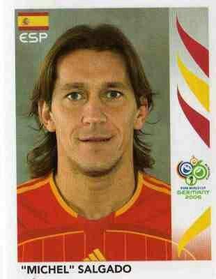 Michel Salgado of Spain. 2006 World Cup Finals card.